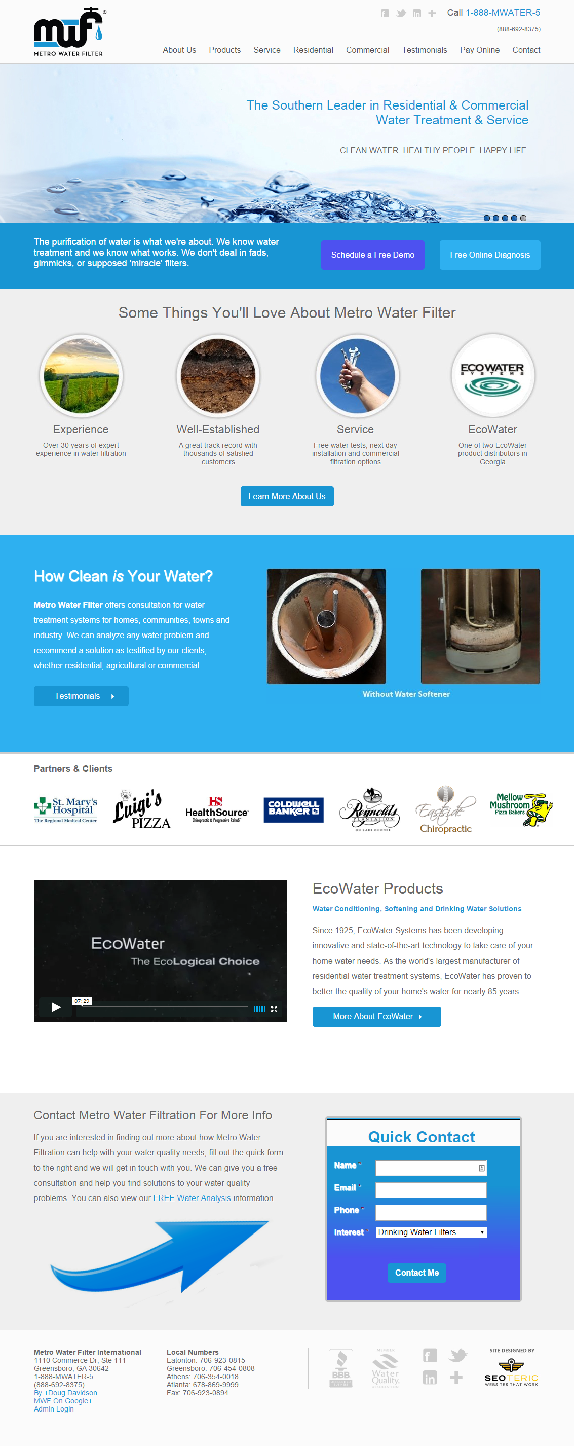 metrowaterfiltration