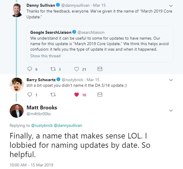 Naming Google Updates By Date